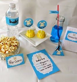 Baby Shower Boy Free Printable Mini Kit.