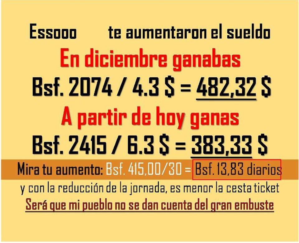 Cuanto Es El Salario O Sueldo Minimo 2013 En Venezuela   Autos Post