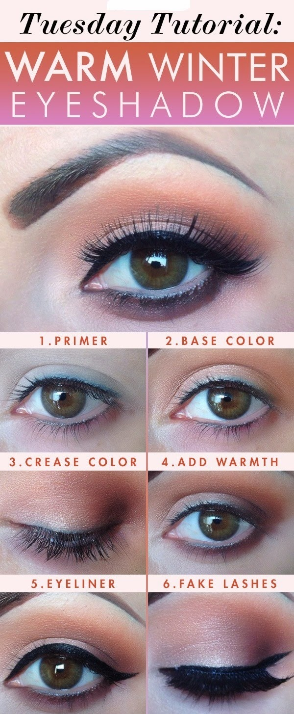 Tuesday Tutorial: Warm Winter Eye Shadow