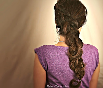 Hair Tutorial | Katniss braid hairstyles & updos for medium long hair for school, prom, wedding