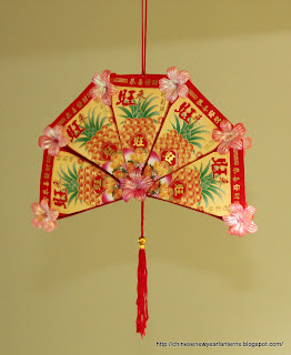 chinese new year lanterns how to make an ang pow fan ForAng Pow Decoration Craft Work