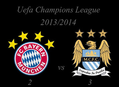 Bayern Munchen vs Manchester City Result December 2013