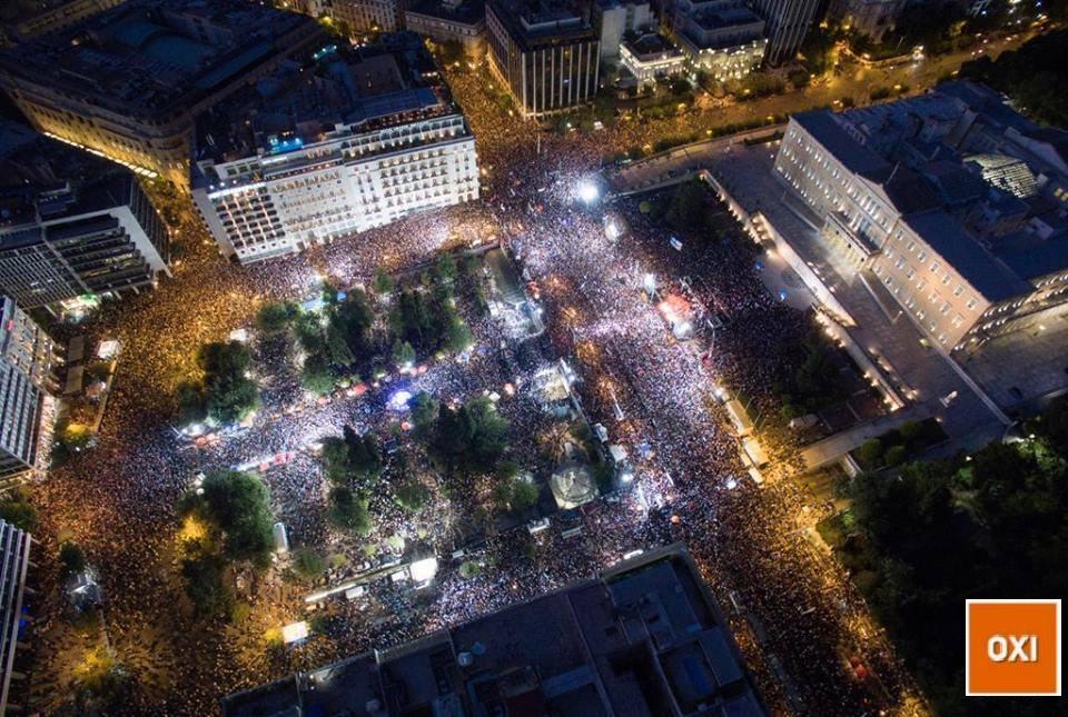 Συγκέντρωση υπέρ του «Όχι» στο δημοψήφισμα στο Σύνταγμα 03 Ιουλίου 2015