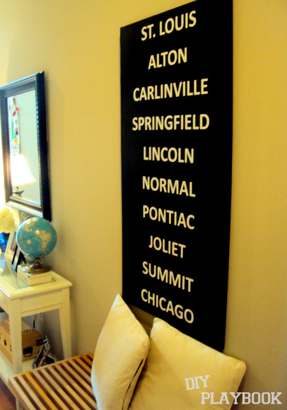 You can make your own DIY city subway art for pennies compared to buying these in store - a perfect DIY project!