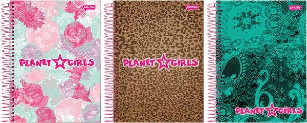 Planet Girls - Coleção de cardernos 2013 Jandaia