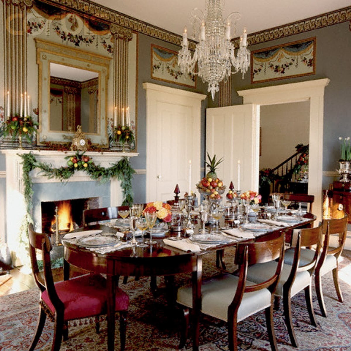 = dining room table christmas decoration ideas