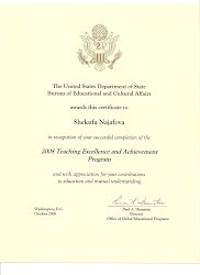 IREX USA certificate