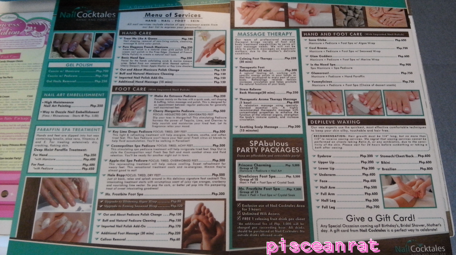 nail cocktales, list of service