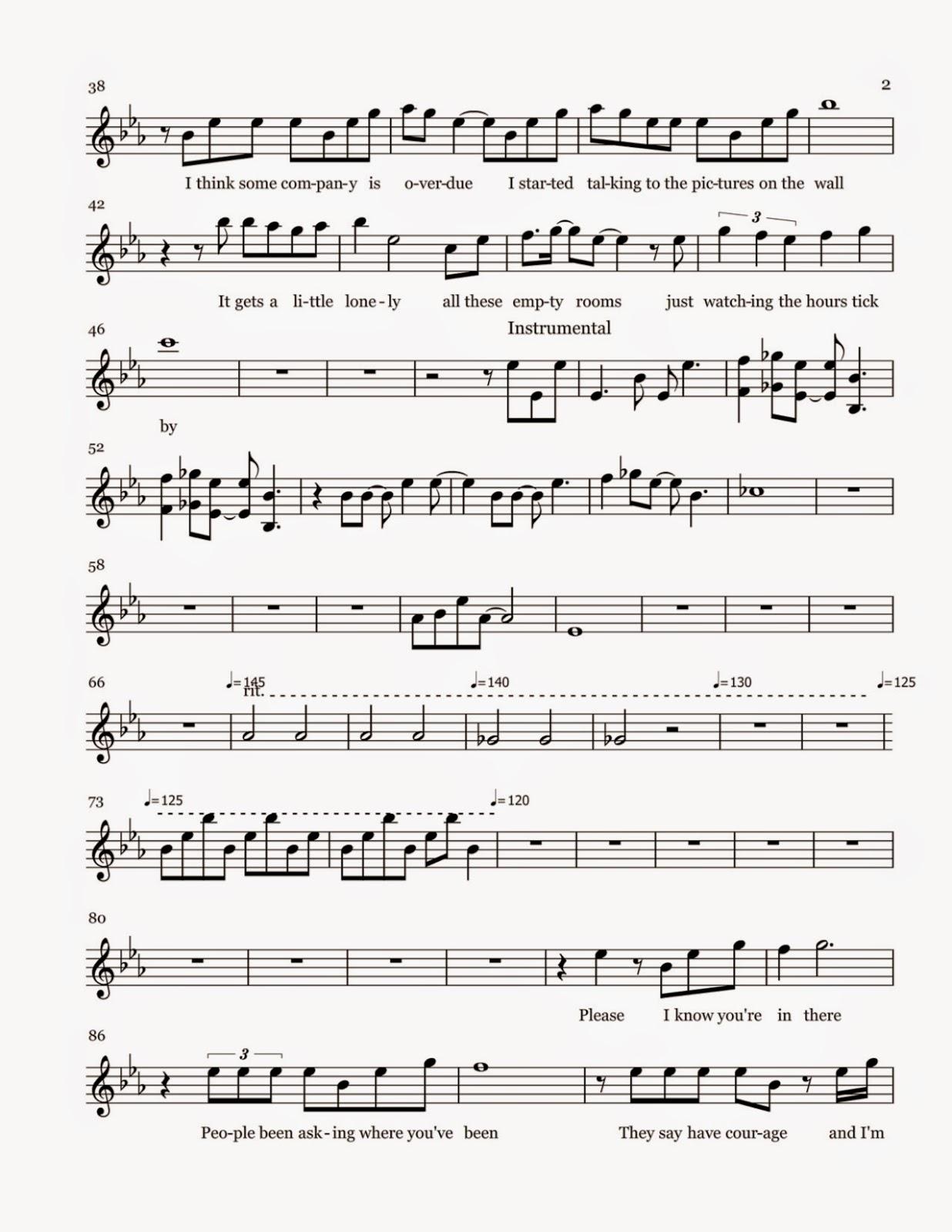 Flute Sheet Music: Do You Want To Build A Snowman - Sheet Music