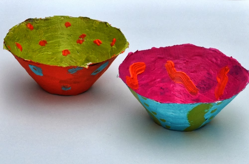 Art with kids paper mache bowls for How to make a newspaper bowl