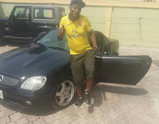 Ent :Comedian MC Shakara buys Mercedes Benz convertible [ Photos ]