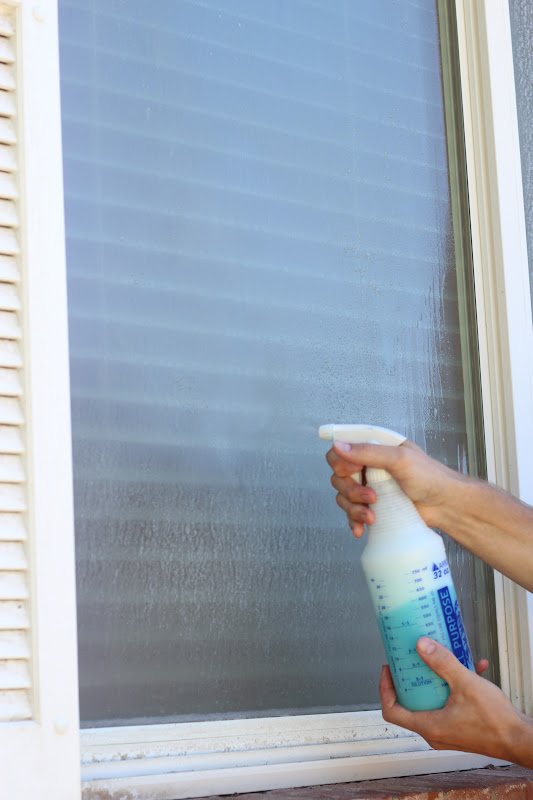 Do it yourself divas diy cleaning hard water off exterior for Exterior window cleaner
