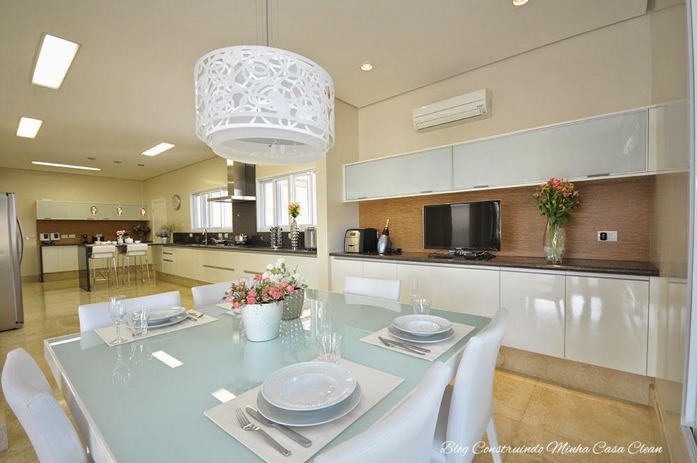 Sala De Jantar Integrada ~  Casa Clean 25 Cozinhas Integradas com as Salas! Veja como Decorar