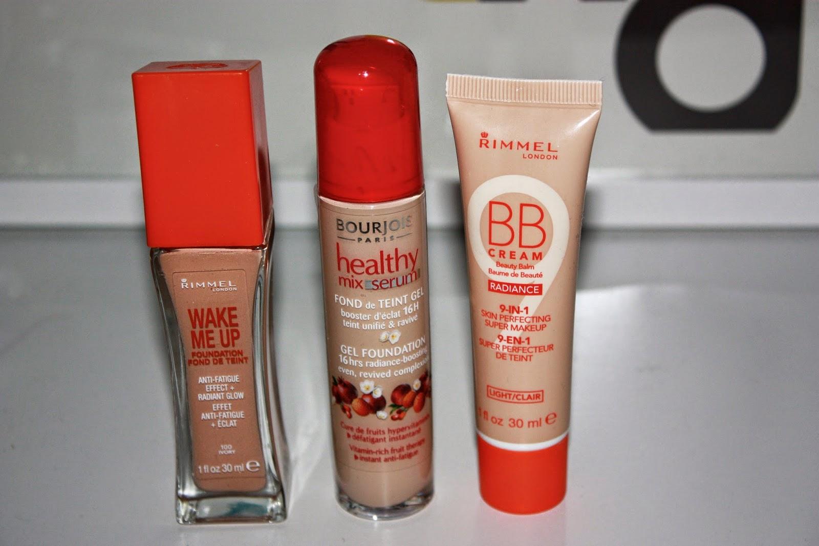 top[ drugstore foundations, rimmel wake me up, bourjois healthy mix serum, rimmel radiance bb cream 9-in-1