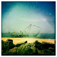 Fishing nets in Fort Cochin