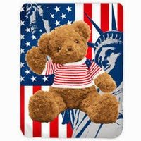 Grosir Selimut Kendra Soft Panel Blanket USA Bear