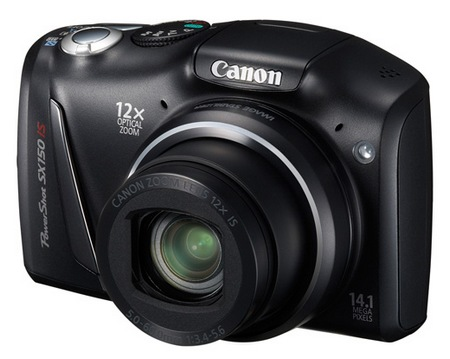 Canon PowerShot SX150 IS 12x Zoom Digital Camera Features and