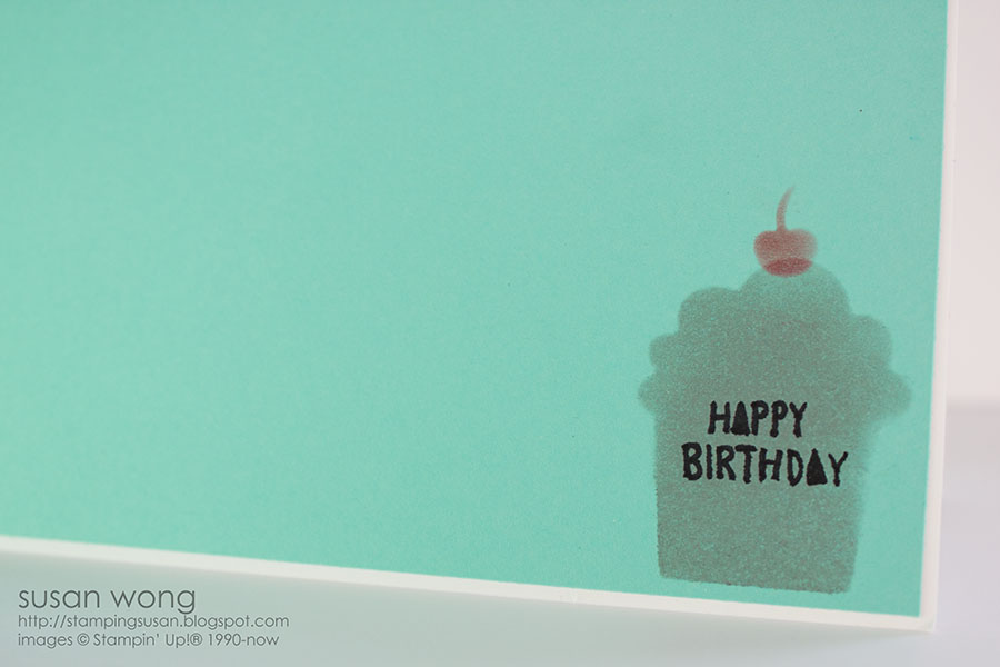 Susan Wong. Cupcake Birthday Card detail.