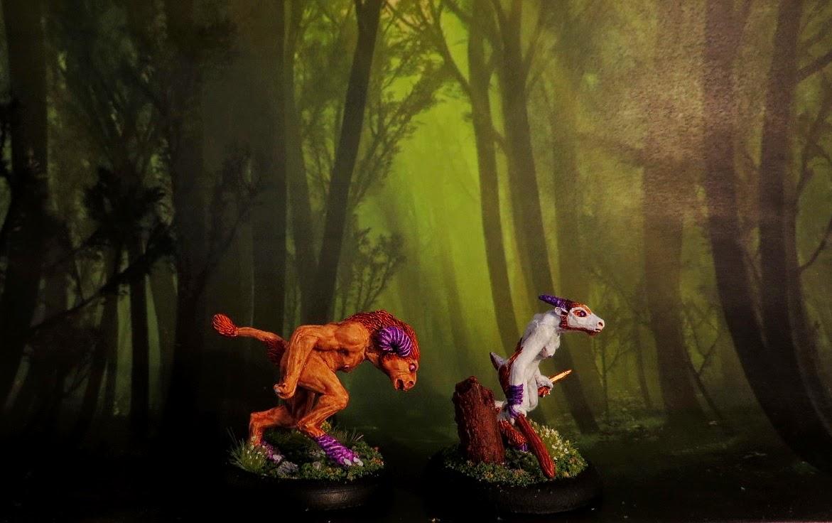 Goatkin, Fenris, beastmen, painted, Scout, Vic, Ernie