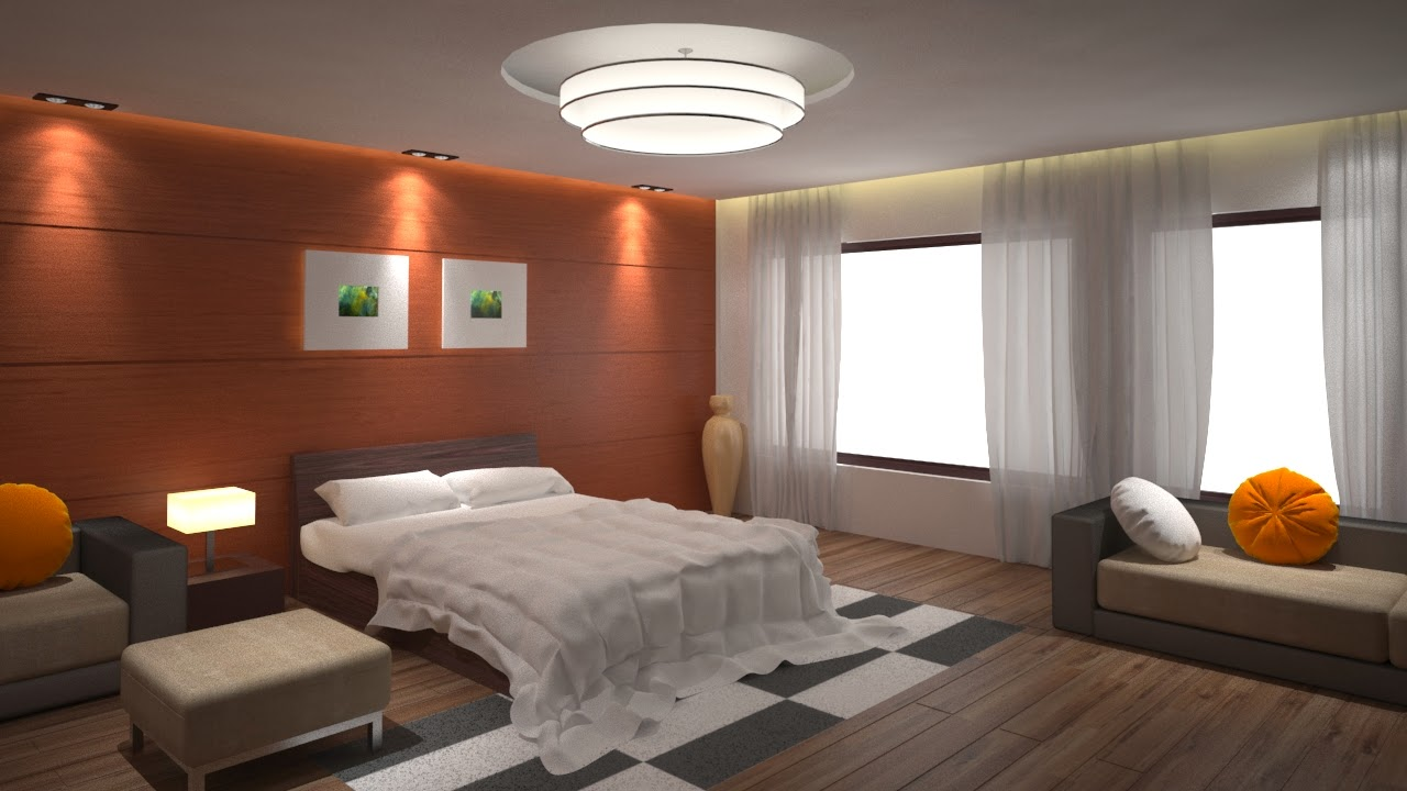 Ravishankar3dartist 3d bedroom interior design in 3ds max for Decoration 3ds max