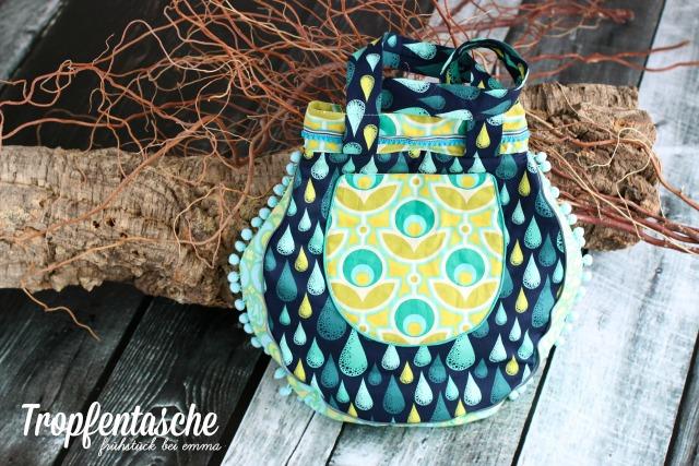 Tropfentasche Farbenmix CD Taschenspieler 2 Beispiele fürs Sew Along bei Frühstück bei Emma