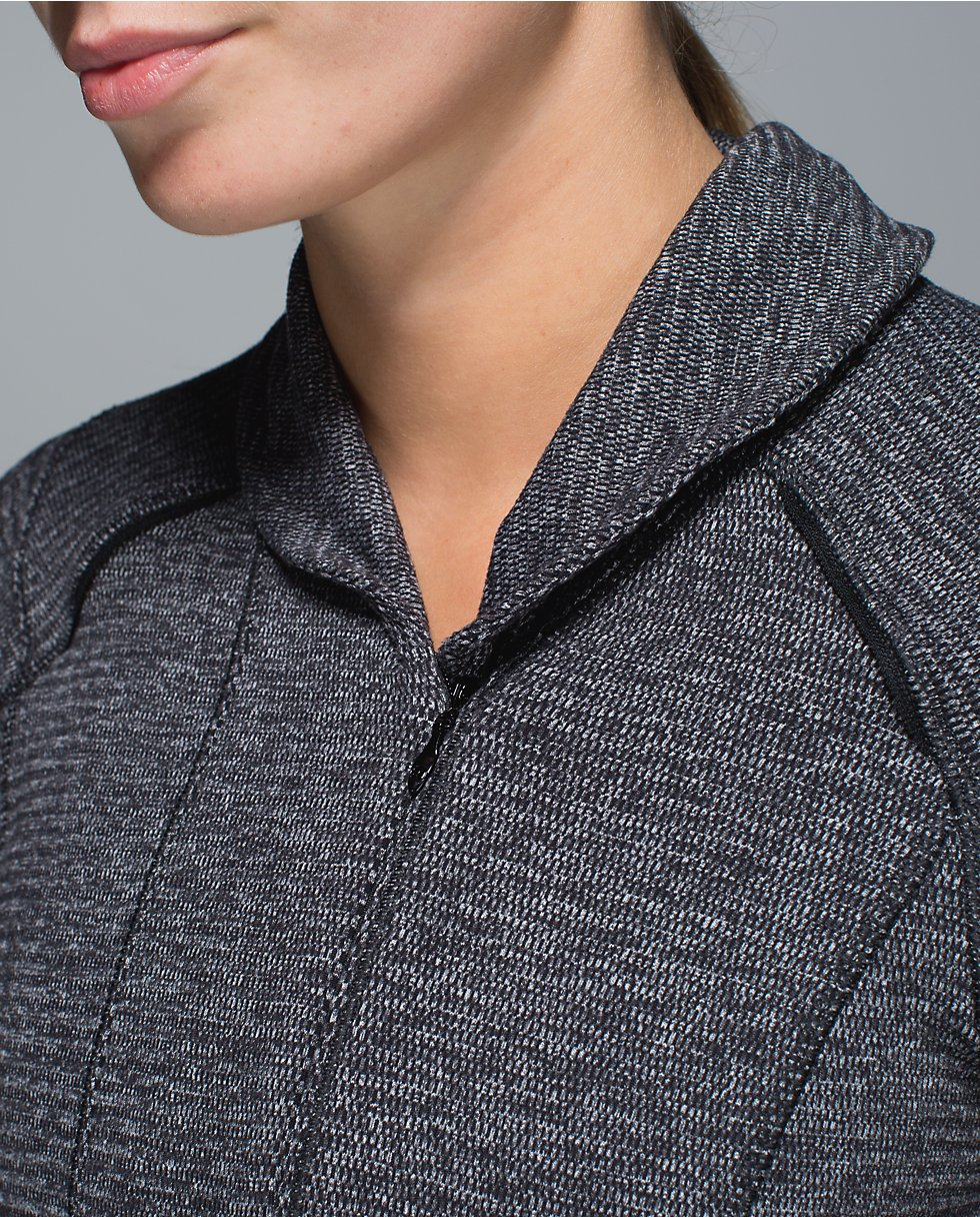 lululemon think fast pullover mini check pique