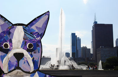 Bosty goes to Chicago by collage artist Megan Coyle