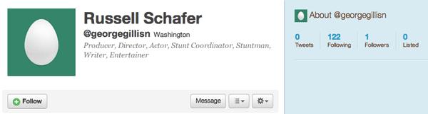 Twitter bot profile