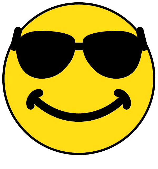 smiley with shades