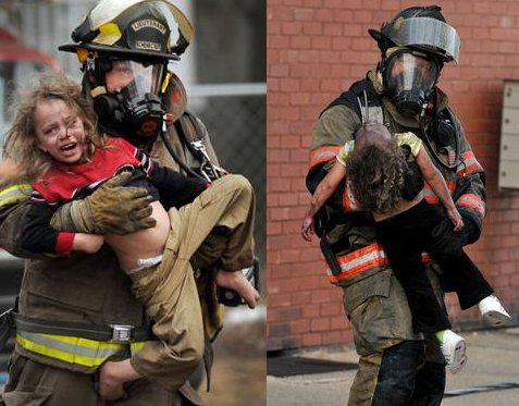 Fireman Carrying Person Pictures to Pin on Pinterest ...