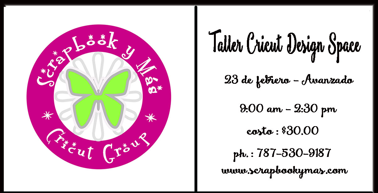TALLERES CRICUT DESIGN SPACE