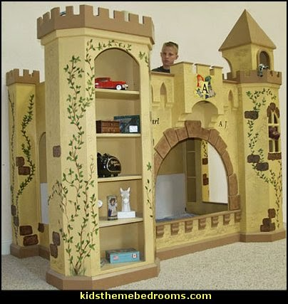 Decorating theme bedrooms maries manor batman bed for Castle bed plans
