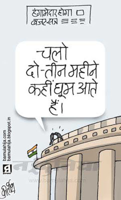 parliament, budget, indian political cartoon