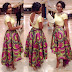 Creative And Beautiful Ankara Midi Skirt 2015
