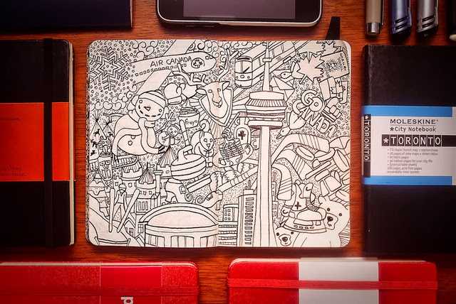 16-Maykel-Nunes-Graphic-Designer-Illustrator-Moleskiner-Sketchbook-Doodles-www-designstack-co