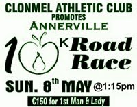 10k in Clonmel...Sun 8th May...Note the change of time