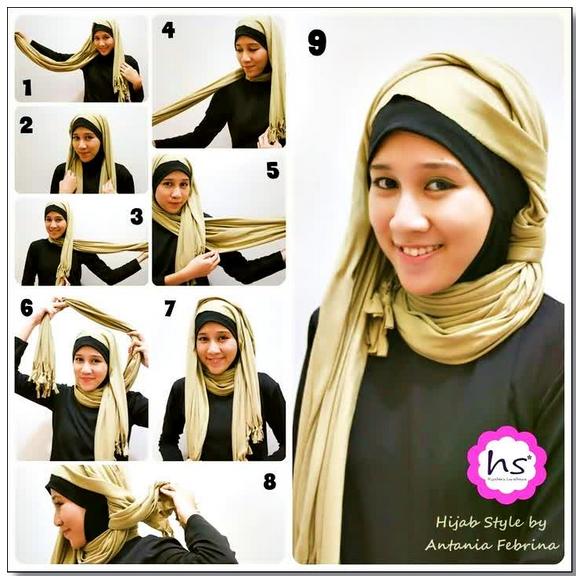 Tutorial Hijab Modern Casual Gambar Lengkap