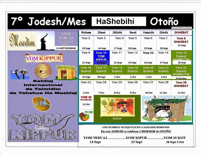CALENDARIO 7º JODESH/MES
