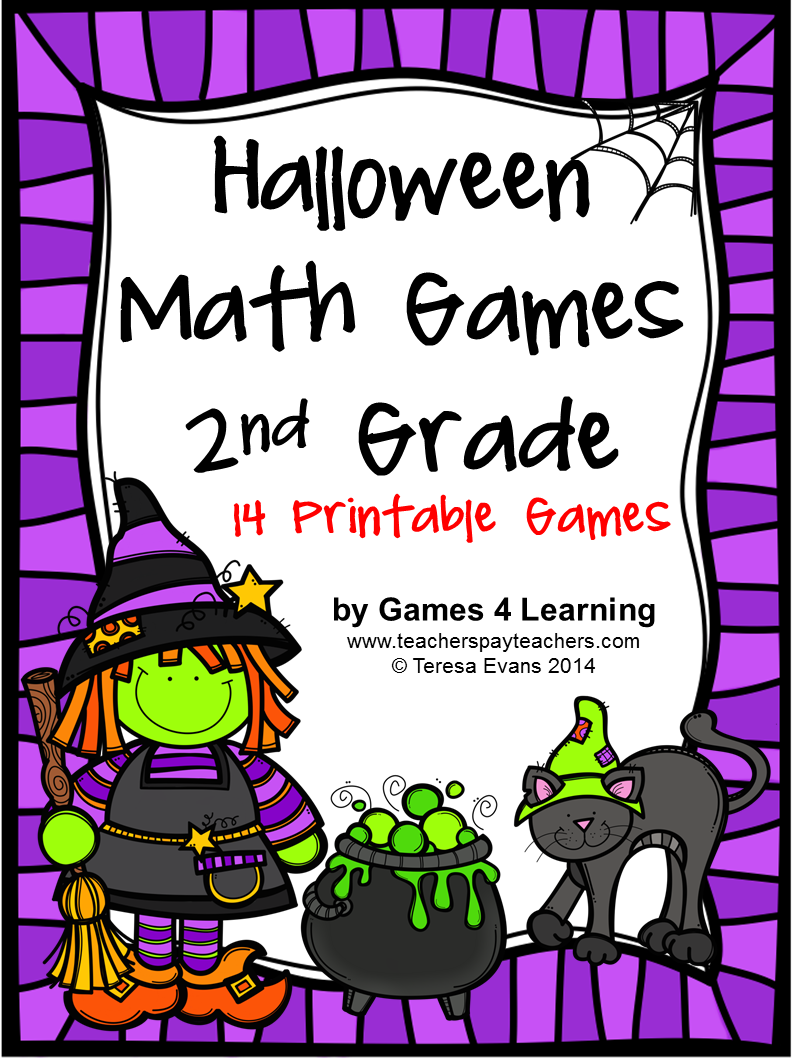 http://www.teacherspayteachers.com/Product/Halloween-Math-Games-Second-Grade-1451722