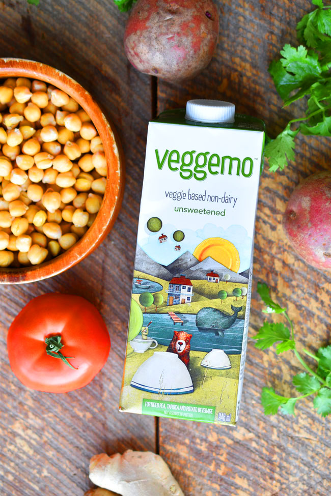 Veggemo - non-dairy milk from pea protein - does NOT contain: dairy, gluten, soy, GMOs, carrageenan, nuts or cholesterol! Plus it's vegan and kosher. #nondairy #dairyfree #vegan