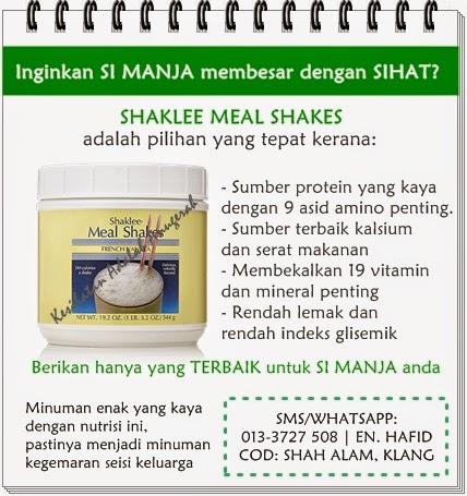 Inginkan anak anda kekal sihat? Meal Shakes adalah pilihan yang tepat.