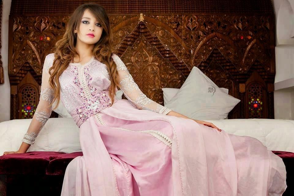 caftan rose haute couture