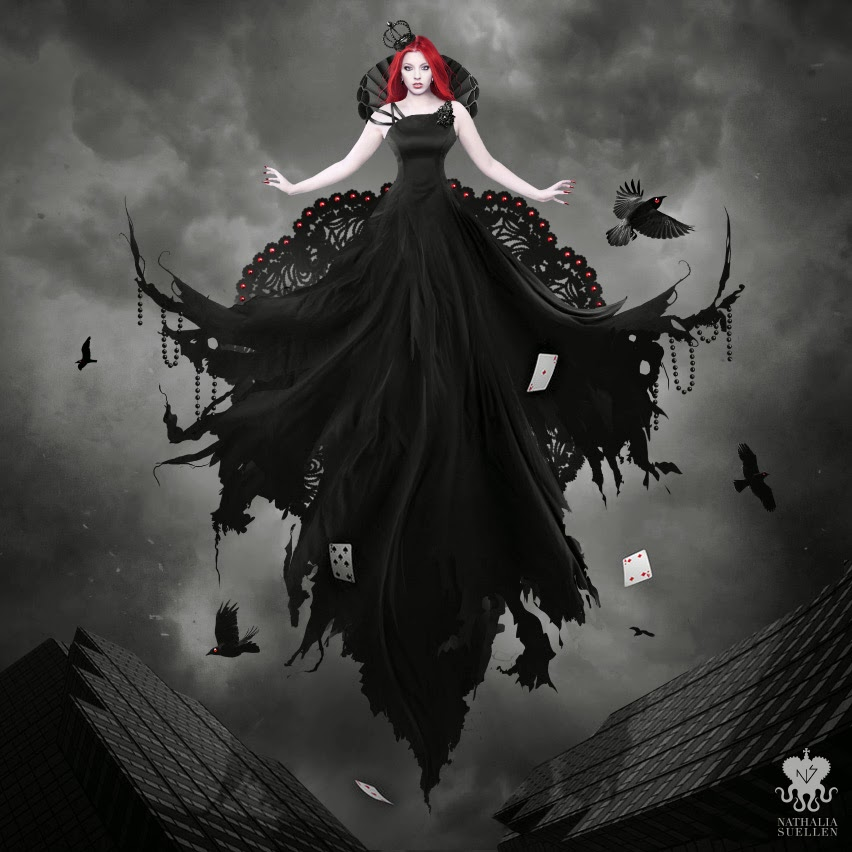 23-Queen-of-Hearts-Nathalia-Suellen-Photography-Digital-Painting-To-Die-For-www-designstack-co