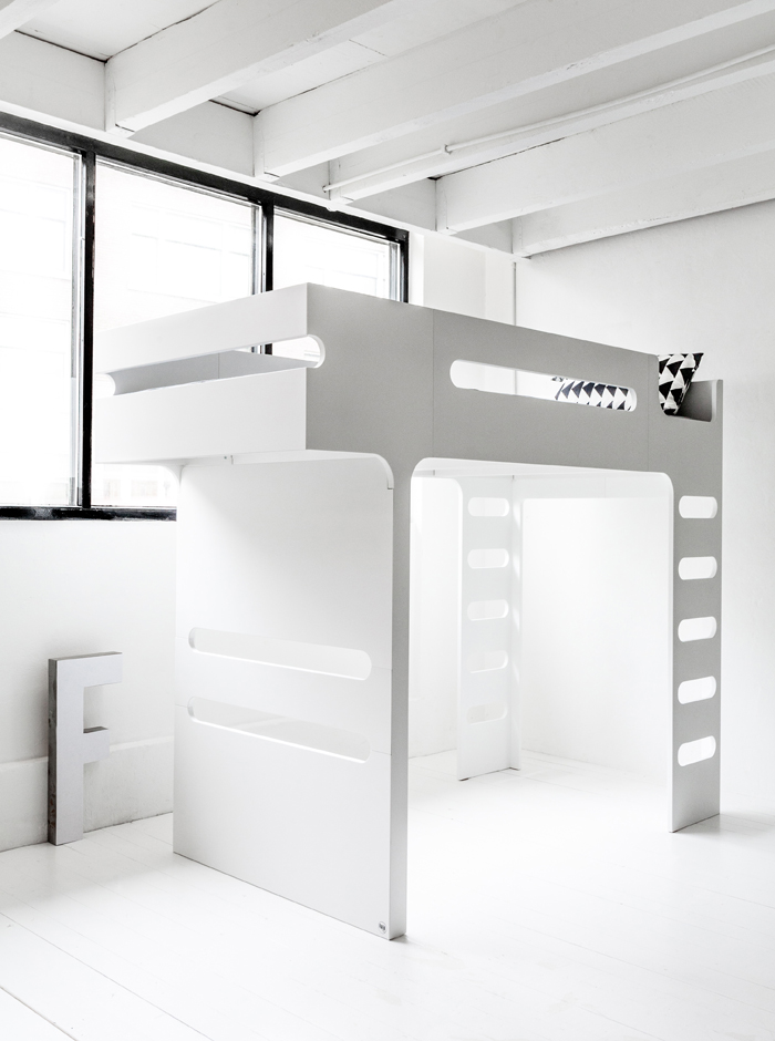 design loft bed in white - Rafa-kids