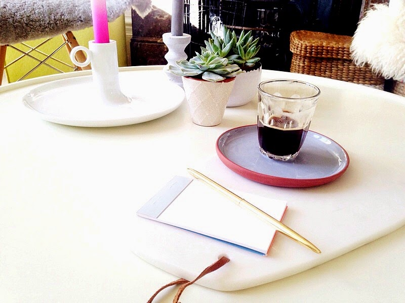 Black coffee and plants on my desk urban jungle bloggers