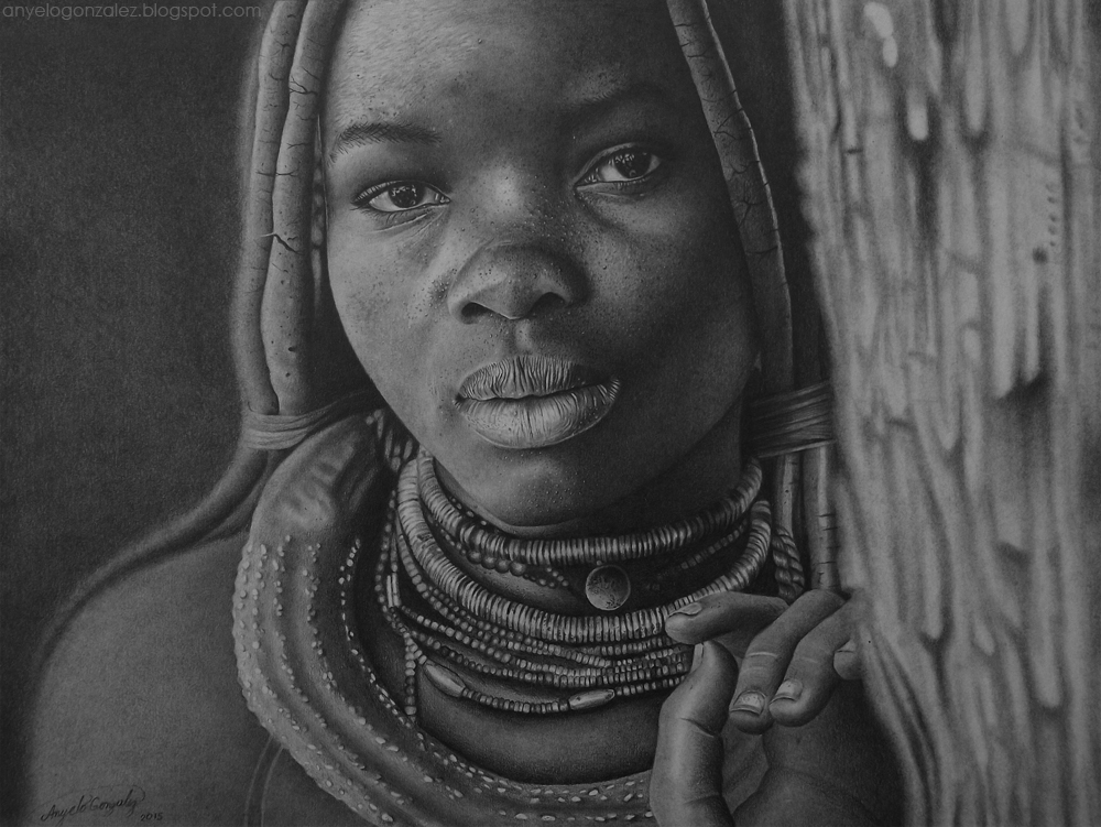 Anyelo Gonzalez Niña Himba Dibujo Drawing