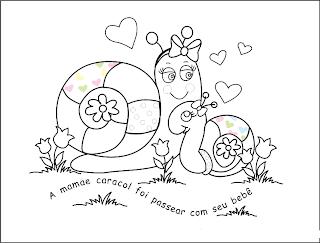desenho de caracol para pintar