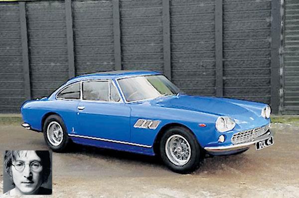 FERRARI 33 GT coupe tahun 1965 ini dibeli oleh John Lennon pada harga AS$9,984 selepas lulus ujian memandu pada usia 24 tahun.