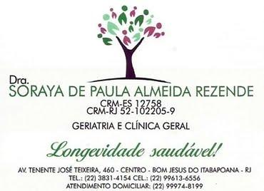 DRª SORAYA DE PAULA ALMEIDA REZENDE
