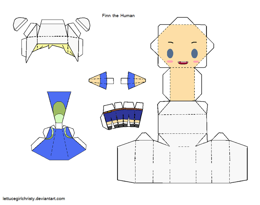 Adventure Time Papercraft Finn